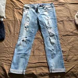 Kut from the Kloth Boyfriend jeans distressed